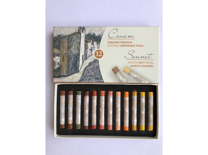 Suchý pastel Sonnet 12 ks - zemité tóny