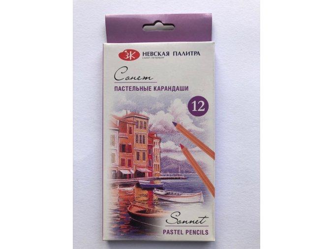 Suchý pastel v tužce 12 ks Nevskaya Palitra