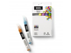 Sada akrylových markerů 6ks zn. Liquitex