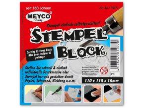 Blok na vyřezávání vlastních razítek zn. Meyco