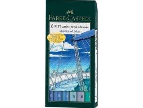 pitt Faber-Castell umělecké pero odstíny modré
