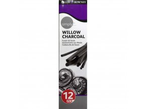 1570958Dal Cha, Daler Rowney Simply Willow Charcoal Set of 12 Assorted Sticks , Daler Rowney, Charcoal l