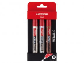 amsterdam acrylic markers metallic set 4mm 12800 p