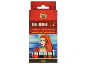 Umělecké akvarelové voskovky  Koh-i-noor 12 ks papírová krabička
