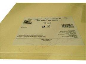 Přírodní karton Via Felt 220 g/m² - A3 - 1 ks