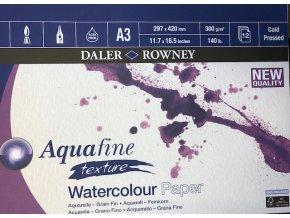Blok na akvarel Aquafine Aquarelle A3 -300 g/m Daler Rowney