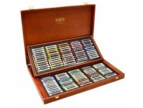Soft křídy umělecké prašné  120 ks dřevěná krabice