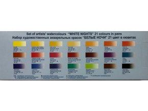 Akvarelové barvy - White Night 21 ks plechová kazeta