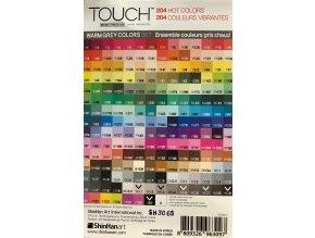 Touch brush - teplá šedá 6 ks