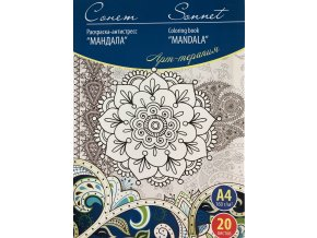 Omalovánka - Mandala zn. Sonet