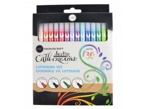 Výprodej - Sada barevných kaligrafických popisovačů Manuscript - 30 ks