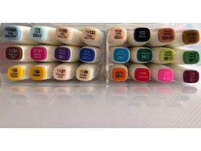 Touch brush -24 barev v plastovém držáku