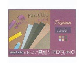 Blok Tiziano 21x29,7 cm 160g Fabriano A4 mix barev