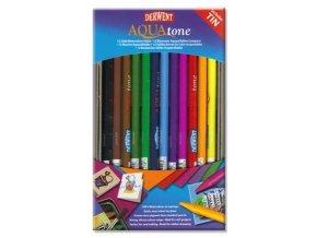 Akvarelové Progresso Pastelky Aquatone DERWENT - 12 ks