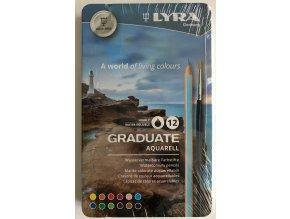 Pastelky akvarelové 12 ks Lyra