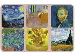 Sada 6ks korkových podtácků s motivy Van Gogh