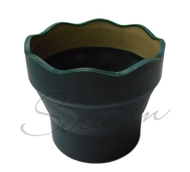 Skládací kelímek Faber-Castell Clic&Go - tmavě zelený