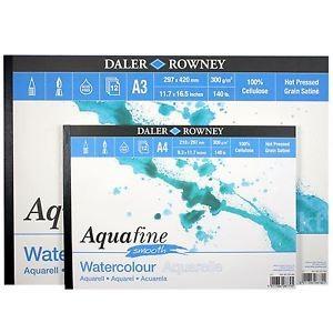 Blok akvarelový Aquafine hladký papír 300g/m² - A4