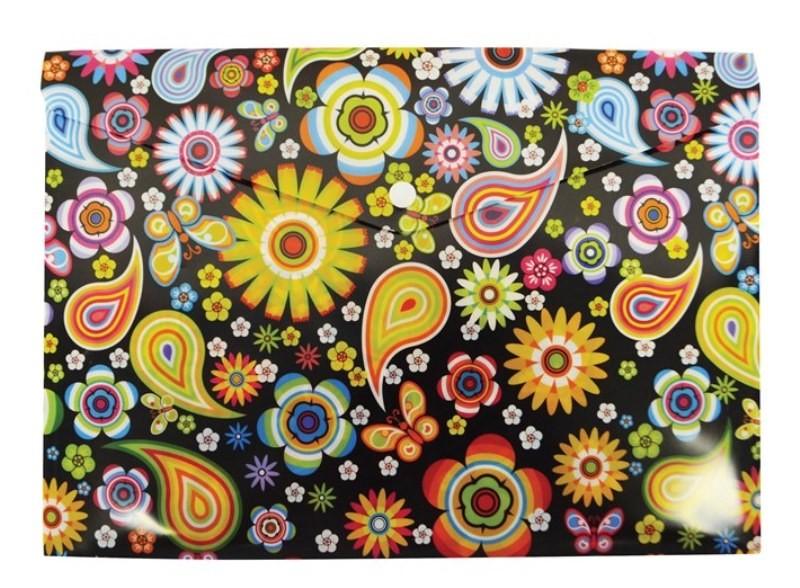 Desky na dokumenty A4 s drukem vzor: Květiny