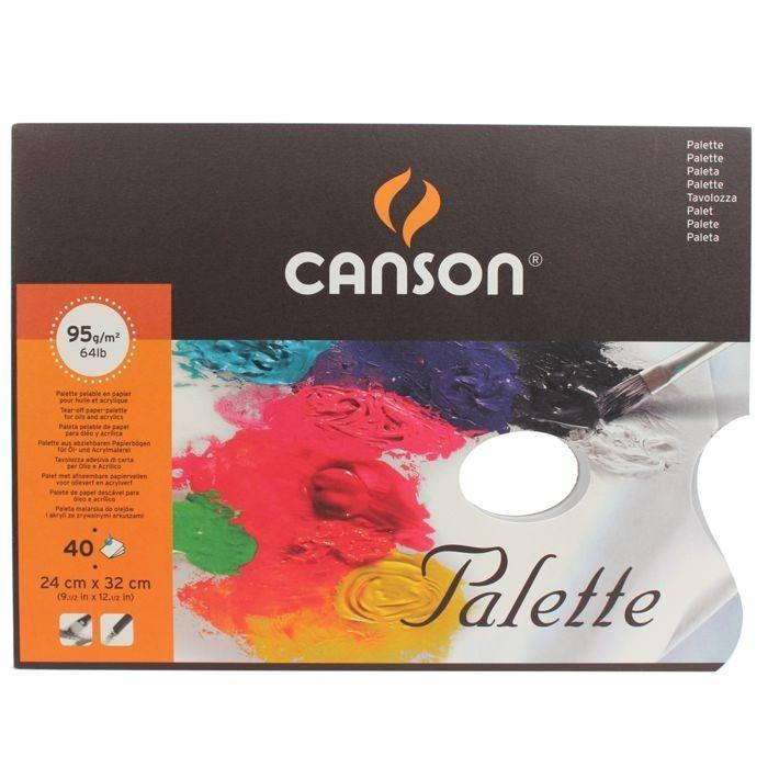 Papírové palety Canson 24x32 cm, 40 ks