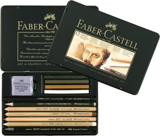 Sada na kreslení v plechovém pouzdře Faber-Castell