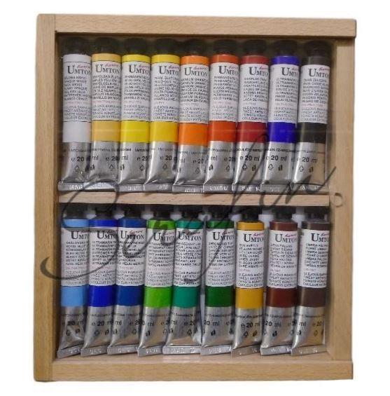 Olejové barvy UMTON 20 ml - dárková sada 18 ks