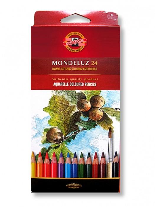 Akvarelové pastelky - Mondeluz 24 ks