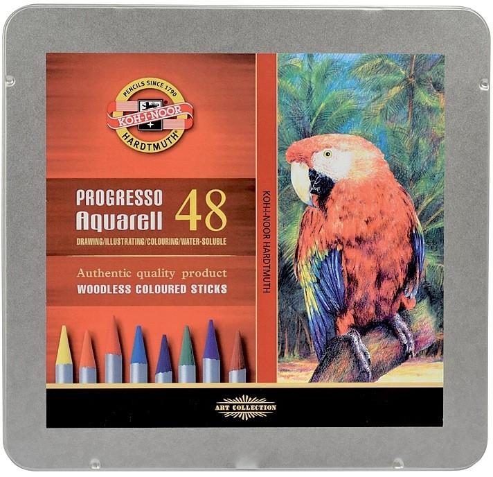 Akvarelové pastelky Progresso - 48 ks
