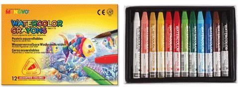 Akvarelové pastelky Mungyo - 12 ks