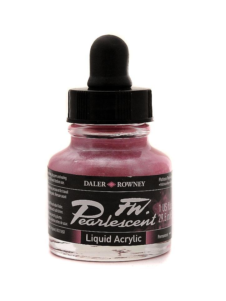 Umělecká tuš Perlescent na akrylové bázi 29,5 ml růžová: Pearlescent Platinum Pink