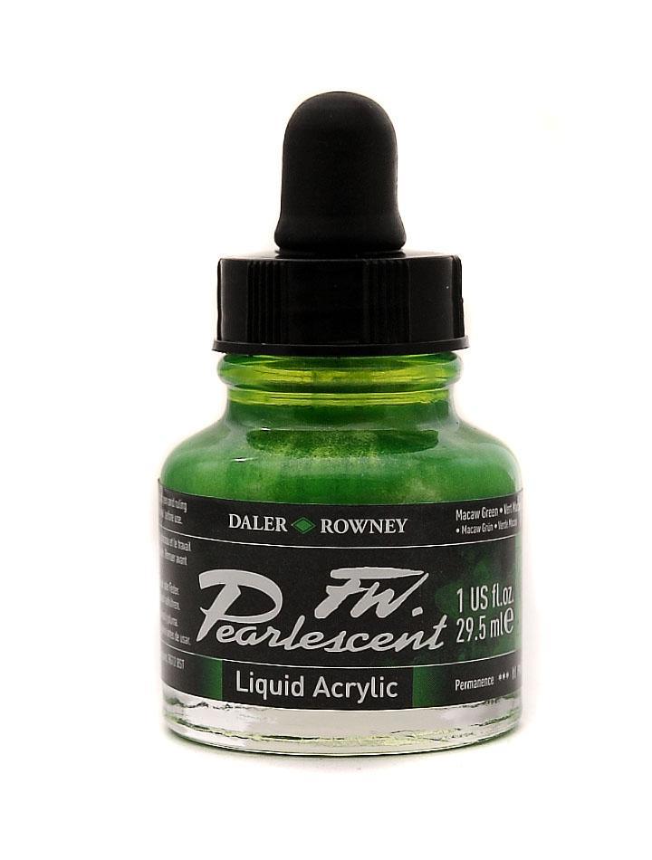 Umělecká tuš Perlescent na akrylové bázi 29,5 ml zelená: Pearlescent Macaw Green