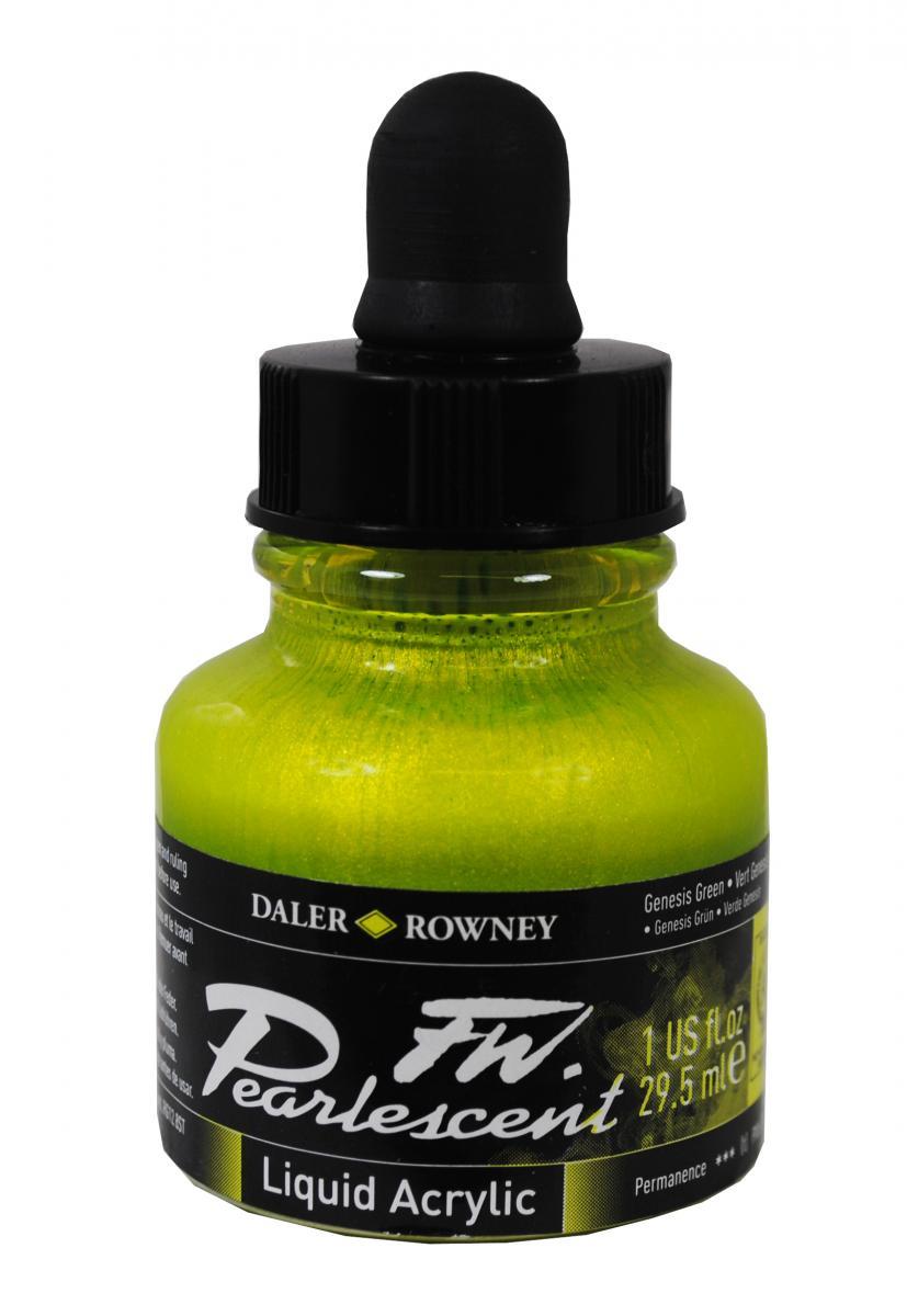 Umělecká tuš Perlescent na akrylové bázi 29,5 ml zelená: Pearlescent Genesis Green