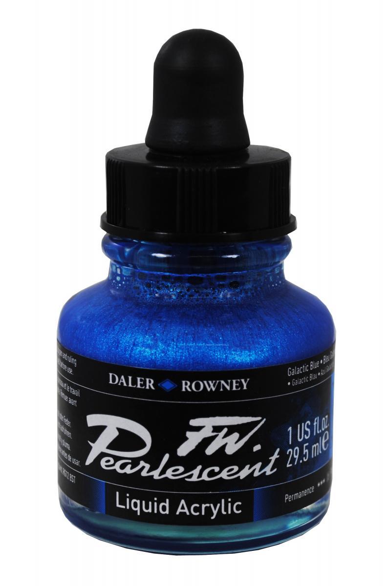 Umělecká tuš Perlescent na akrylové bázi 29,5 ml modrá: Pearlescent Galactic Blue