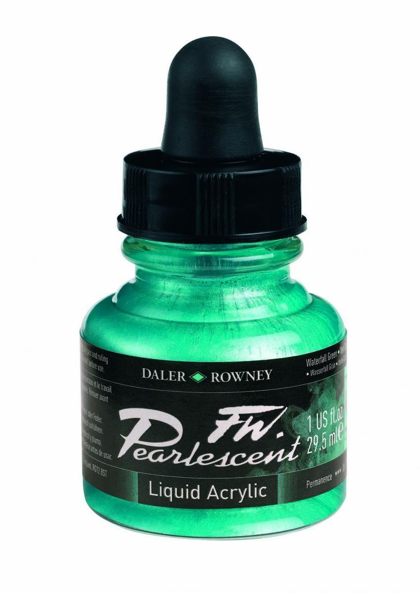 Umělecká tuš Perlescent na akrylové bázi 29,5 ml zelená: Pearlescent Waterfall Green