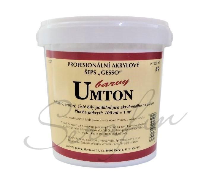 Profesionální akrylový šeps Gesso Umton 1000 ml