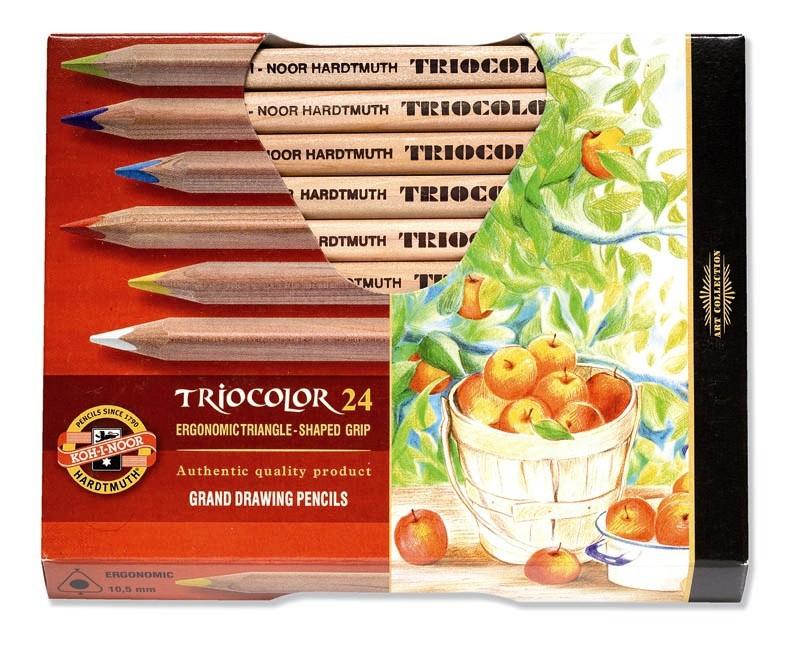 Pastelky TRIOCOLOR - natur 24 ks
