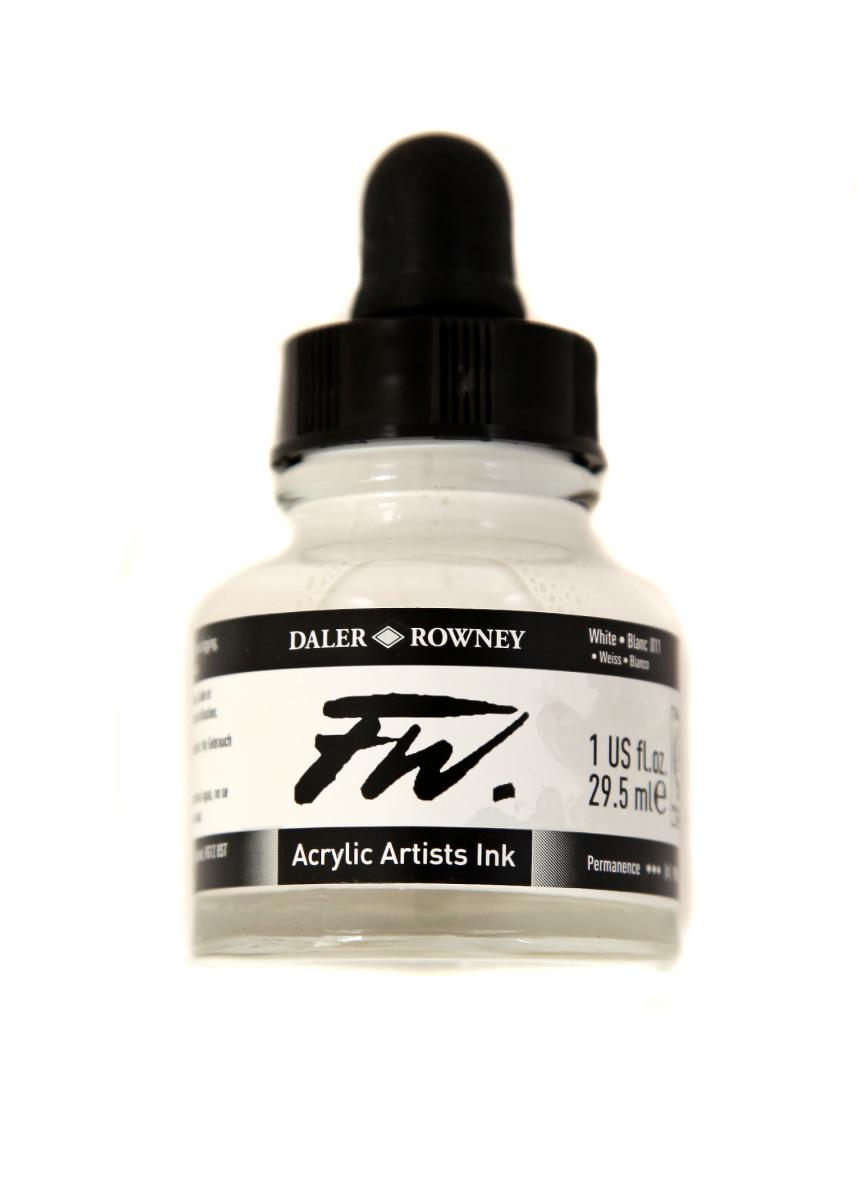 Umělecká tuš na akrylové bázi 29,5 ml Bílá: white