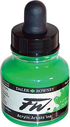 Umělecká tuš na akrylové bázi 29,5 ml zelená: Fluorescent Green