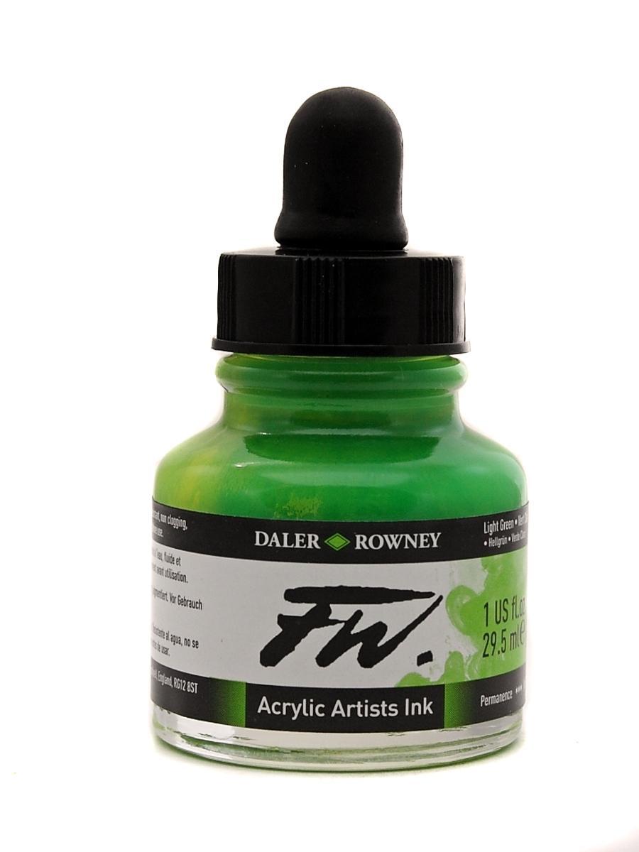 Umělecká tuš na akrylové bázi 29,5 ml zelená: Light Green