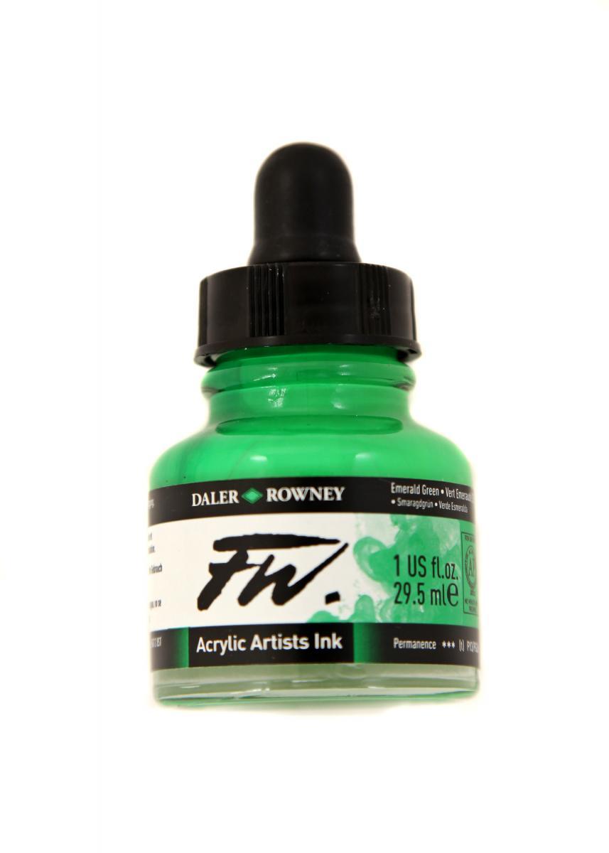 Umělecká tuš na akrylové bázi 29,5 ml zelená: Emerald Green