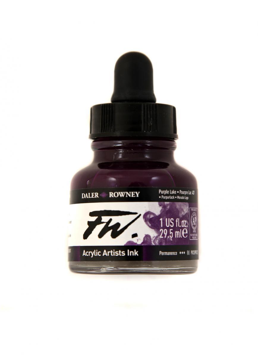 Umělecká tuš na akrylové bázi 29,5 ml purpurová: Purple Lake