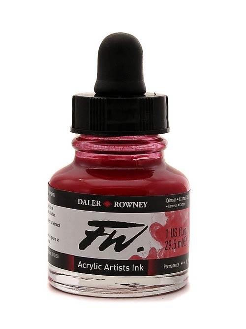 Umělecká tuš na akrylové bázi 29,5 ml karmínová: Crimson