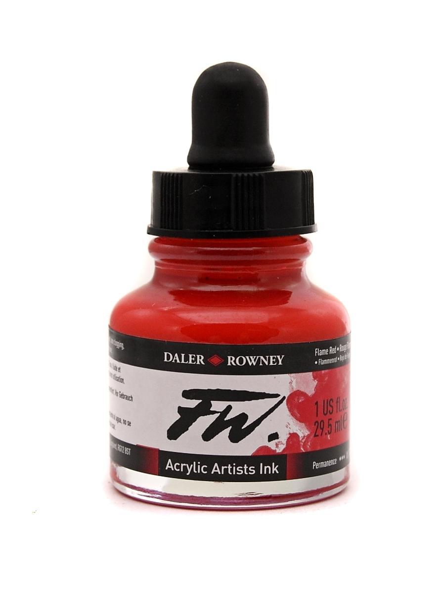 Umělecká tuš na akrylové bázi 29,5 ml červená: Flame Red