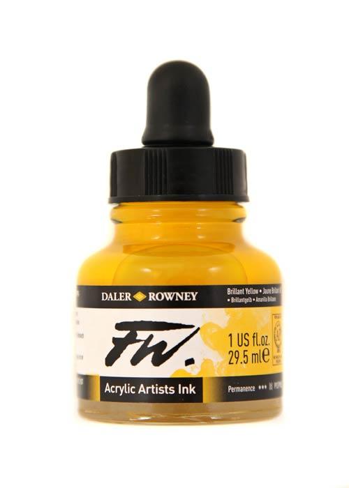 Umělecká tuš na akrylové bázi 29,5 ml žlutá: Brilliant Yellow
