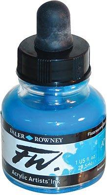 Umělecká tuš na akrylové bázi 29,5 ml modrá fluorescenční: fluorescent blue