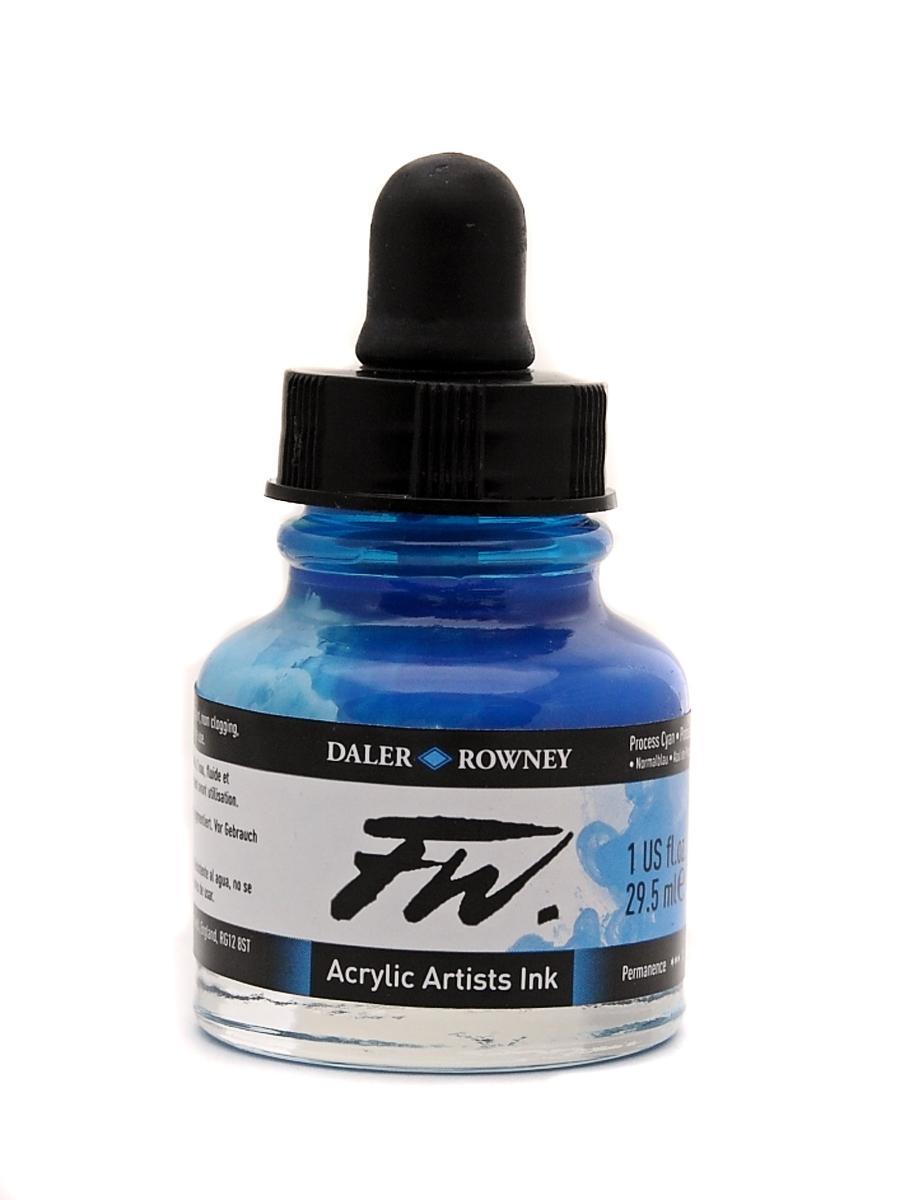 Umělecká tuš na akrylové bázi 29,5 ml cyan: process cyan