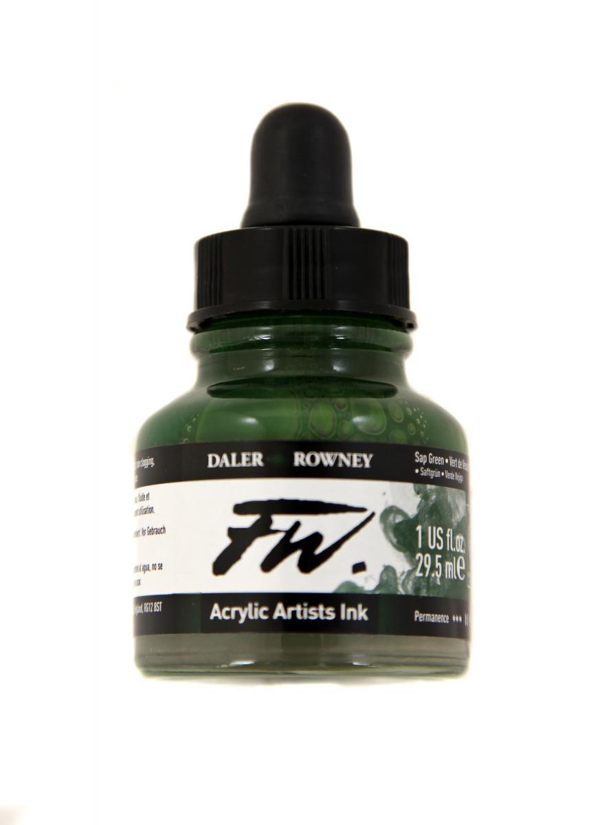 Umělecká tuš na akrylové bázi 29,5 ml zelená: sap green
