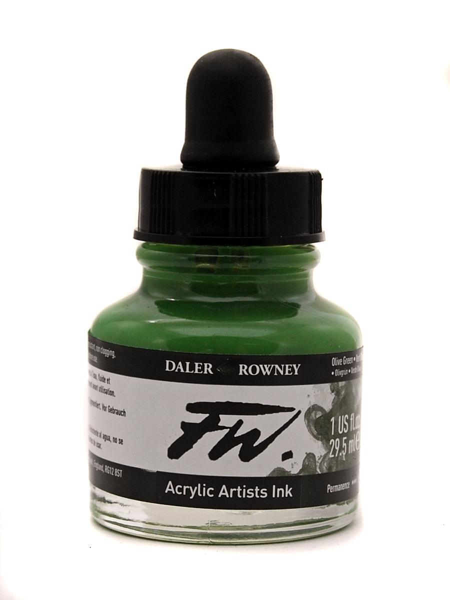 Umělecká tuš na akrylové bázi 29,5 ml zelená: olive green