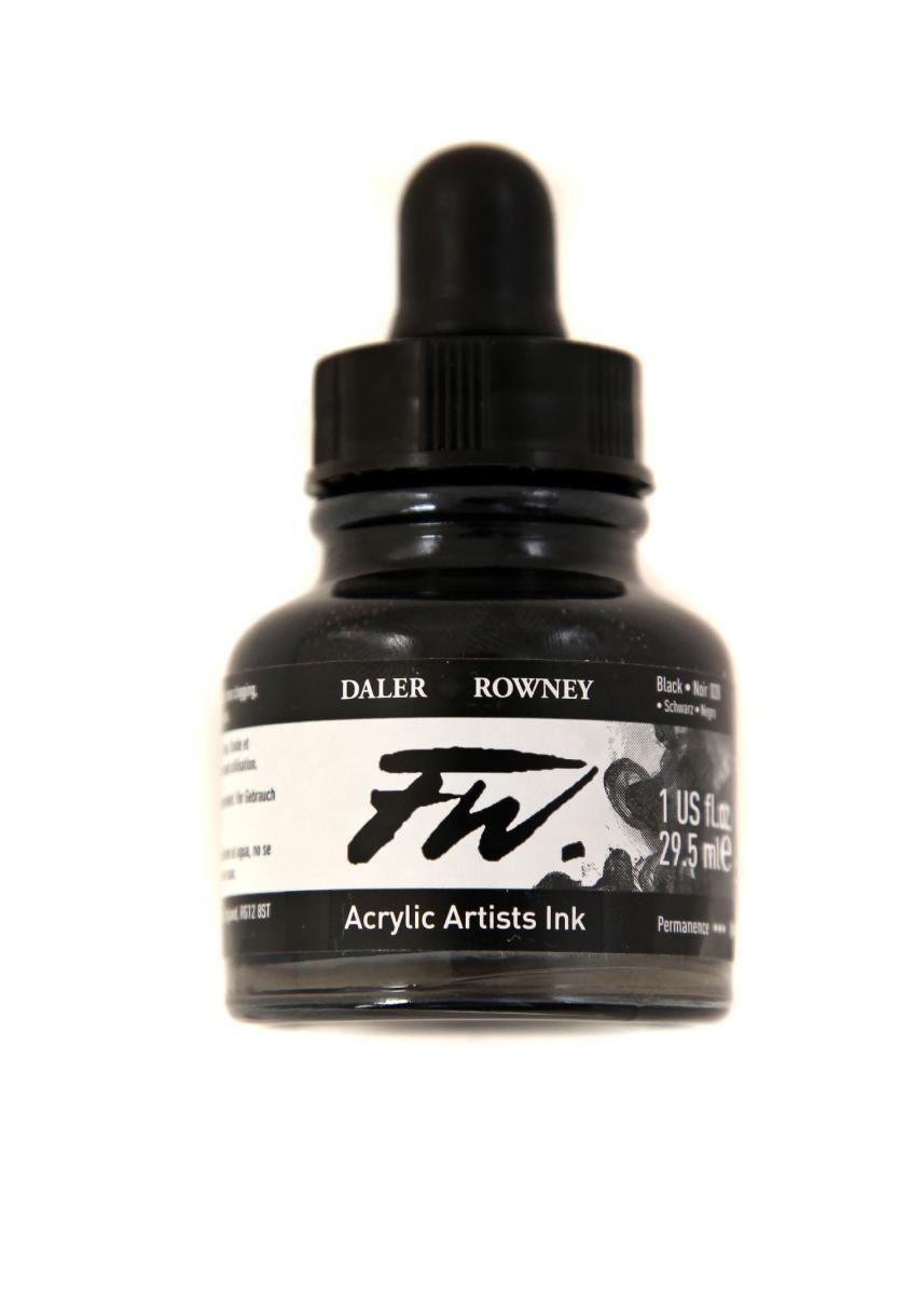 Umělecká tuš na akrylové bázi 29,5 ml černá: black