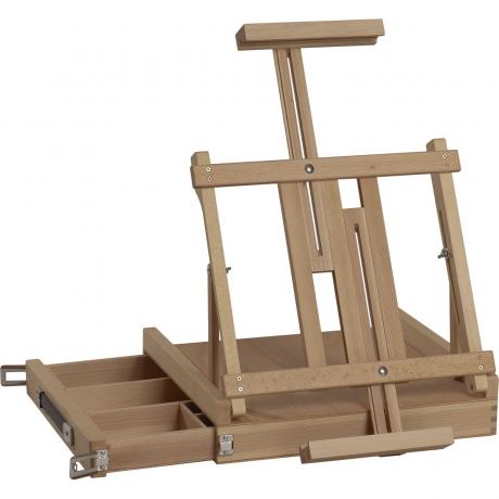 Stojan malířský MAX - dřevěný stolní s úložným šuplíkem